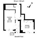 Quadrangle Tower, W2 – Flat